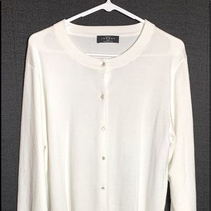 XXL Long sleeve button up sweater white